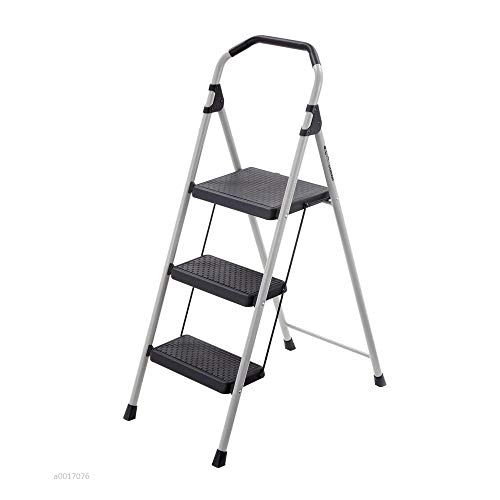 Type Steel Weight - Gorilla Ladders 3-Step Lightweight Steel Step Stool Ladder with 225 lb. Load Capacity Type II Duty Rating with Locking Step Latch, Soft Grip and Non-Slip Tread LIFETIME LIMITED WARRANTY!!!