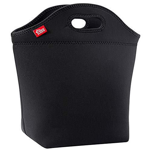 Large Black Lunch Bag for Adults, Yookeehome 13.5