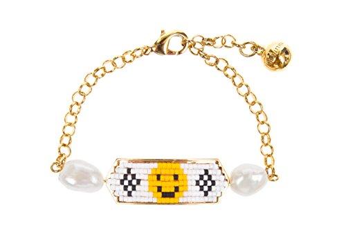 SHOUROUK Bracelet Happy Face en perles - Femme