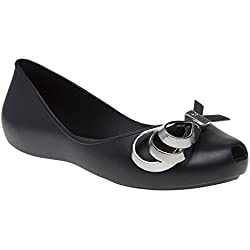 Zaxy Luxury Ribbon Womens Shoes Black
