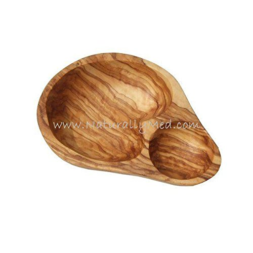 (Olive Serving Dish Made From Olive Wood - 7 Inch)