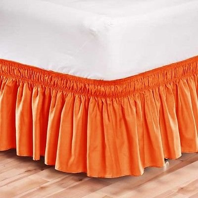 ゴム用フリル付きベッドスカートDust Easy Fit /カリフォルニアキングサイズサイズ/オレンジ B06XGD94NV