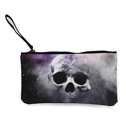 Oomato Canvas Coin Purse Skull Dark Bone Cosmetic Makeup Storage Wallet Clutch Purse Pencil Bag]()