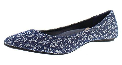 Punta Dorata Stivaletto Da Donna Balletto Floreale Con Ricamo Ricamato, Senza Tacco A Punta, Slip On Comfort Shoe Floral 2