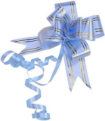 Healifty プルボウ結婚式のバレンタインギフトラッピング20pcsのリボンストリングキラキラウェディングカーデコレーション