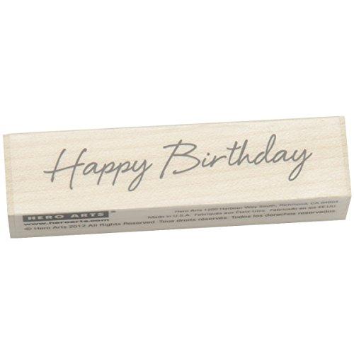 Hero Arts Woodblock Stamp, Little Greetings Happy Birthday
