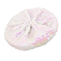 Classic Sparkle White Sequin Beret Hat