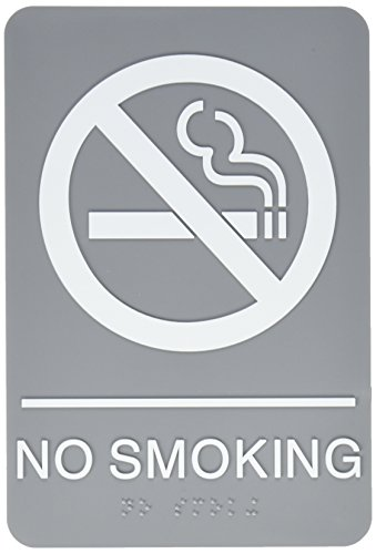 (U.S. Stamp and Sign ADA Plastic No Smoking Sign (USS4813) )