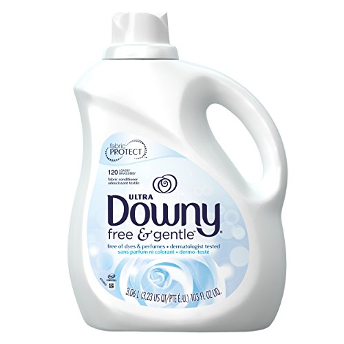 Downy Ultra Fabric Softener Free and Sensitive Liquid, 120 Loads, 103-Ounce (Pack of 4)
