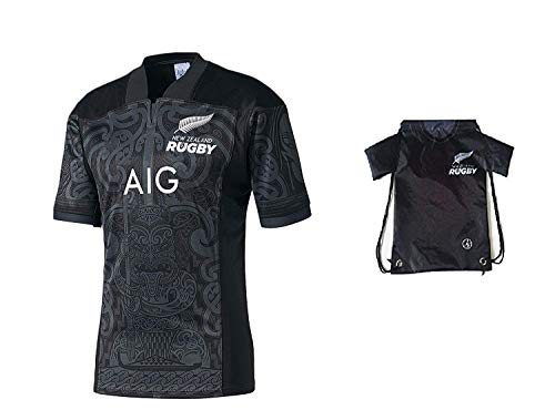Fan Kitbag New Zealand Rugby Maori Short Sleeve Jersey Home ✓ Bonus Jersey Backpack