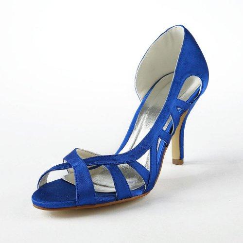Jia Jia Wedding 83902 Hochzeitsschuhe Brautschuhe Damen Pumps Blau