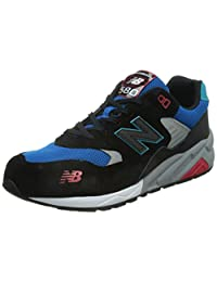 New Balance Men's 580 Lifestyle Black with Blue & Red Running Shoe 9 Men US