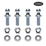 "Beneges 4 Pair 10mm Ball Studs With Hardware Lock Nuts Washers 5/16-18 Thread x 3/4"" Long Shank For Universal Gas Lift Support Strut End Fittings"