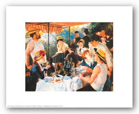 Luncheon of the Boating Party Art Print by Pierre-Auguste Renoir 14 x 11in
