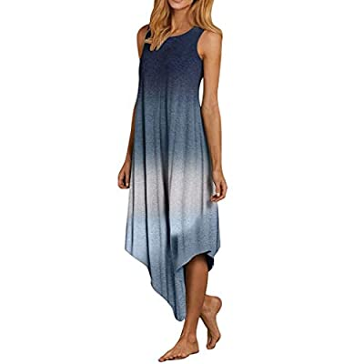 Chanyuhui Tank Dresses for Women Summer Sleeveless Tie Dyeing Tunic Top Dress Casual Irregular Maxi Gown Beach Sundress at  Women's Clothing store