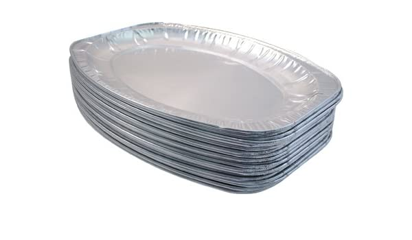Amazon.com: 100 x LARGE FOIL PLATTER DISH - 44cm x 29cm disposable foil catering tray FREE DELIVERY by Party & Paper Solutions: Appliances