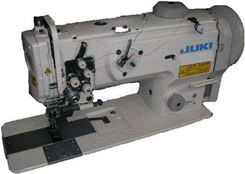 Juki LU-1560N 2 Needle Unison Feed Lockstitch Machine w/ Table & Motor