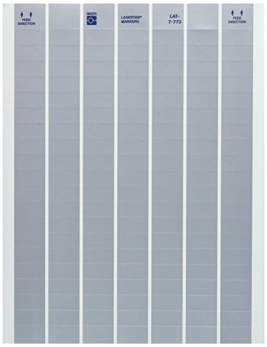 Brady LAT-7-773-10 1'' Width x 0.5'' Height, B-773 Metallized Polyester, Matte Finish Silver Laser Printable Label (Pack of 10000) by Brady