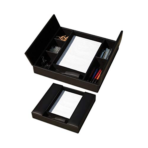 (Dacasso Classic Black Leather Enhanced Conference Room Organizer)