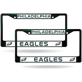 Amazon.com : NFL Philadelphia Eagles Laser License Plate Frame ...