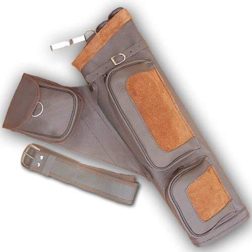 (Carol Archery Leather Side/Hip Belt Arrow Quiver AQ122 Brown R/H )