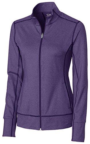 Cutter & Buck Women's CB Drytec Topspin Full Zip, College Purple Heather, XXX-Large