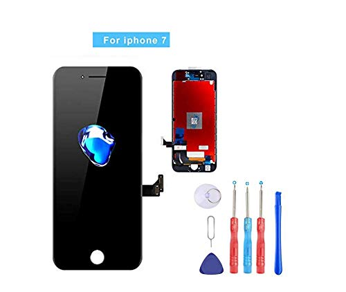 Screen Replacement Compatible with iPhone 7 4.7 Inch LCD - Compatible with iPhone 7 3D Touch Screen Display Repair Kit Assembly with Complete Repair Tools (Black)