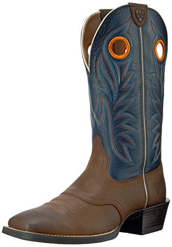 Ariat Men's Sport Outrider Western Cowboy Boot, Pinecone/Federal Blue, 10.5 D US