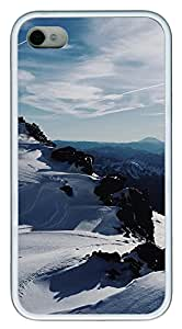 iPhone 4 4s Case, iPhone 4 4s Cases - landscapes nature snow 14 TPU Polycarbonate Hard Case Back Cover for iPhone 4 4s¨C White