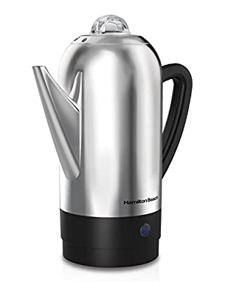 Hamilton Beach 40622R 12 Cup Stainless Steel Percolator, Silver