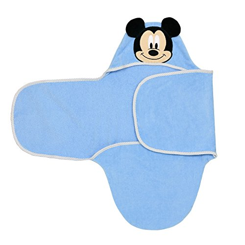 Disney Baby Mickey Mouse Bath Swaddler, Blue for sale  Delivered anywhere in USA