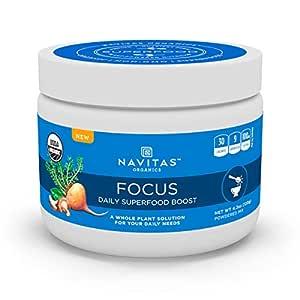 Navitas Organics Daily Superfood Boost, Organic, Non-GMO, Gluten-Free, Focus, 4.2 Ounce (15 Servings)