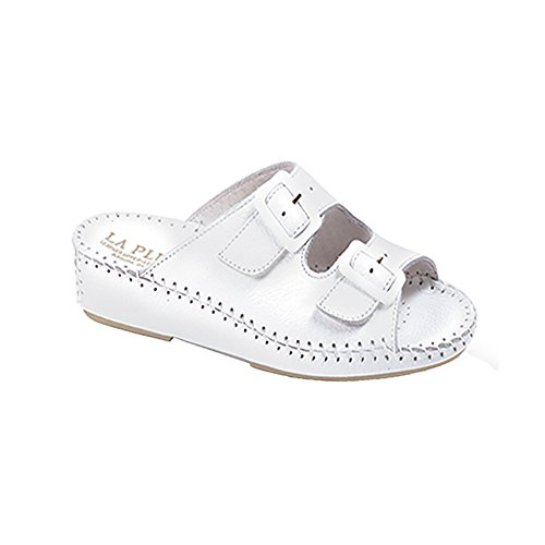 La Plume Jen Womens Sandals White Leather free shipping in China popular cheap online cheap sale shop offer discount low shipping mnLUDvv