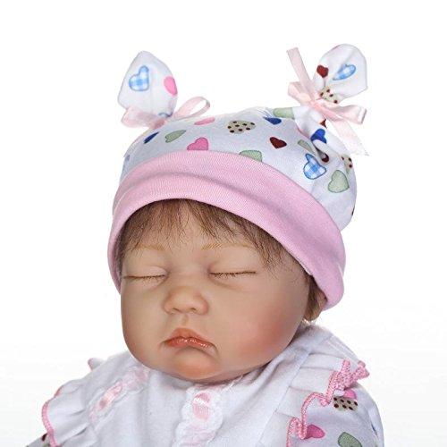 ICradle Reborn Reborn Reborn Baby Dolls 17  43cm Süß Weiches Silikon Lebensechte Puppen Babys Handgemachtes Vinyl Realistische Reborn Baby Puppen (Girl) 37befb