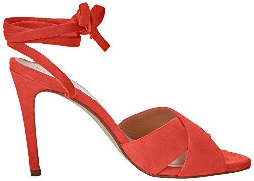 PEDRO MIRALLES 19339, Sandalias con Tira de Tobillo para Mujer Rojo (Geranio)
