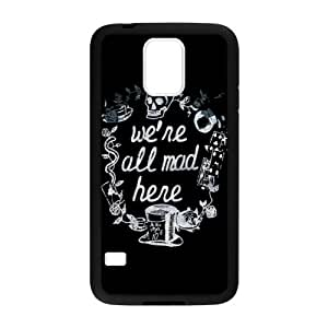 Cartoon Alice in Wonderland We're All Mad Here TPU (Laser Technology) Covers Cases for Samsung Galaxy S5 SV - Rubber Sides