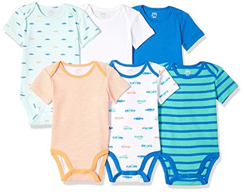 Amazon Essentials Baby Boys' Short-Sleeve Bodysuits