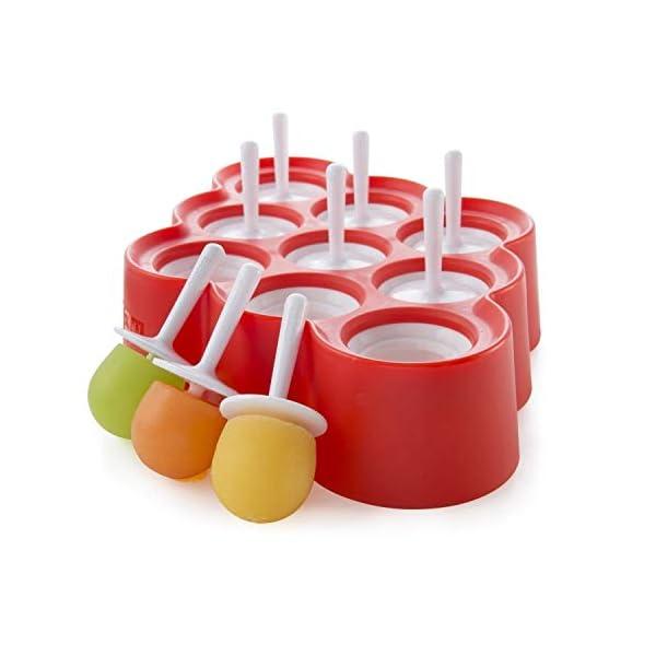 Zoku Slow Pops - stampi in silicone per ghiaccioli facili da rimuovere con protezioni antigoccia 2 spesavip