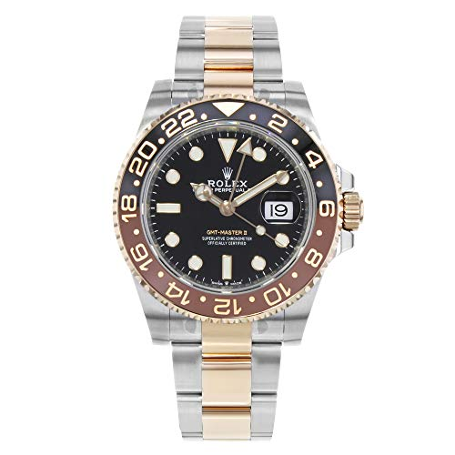 Rolex GMT-Master II Black Dial Automatic Stainless Steel and 18kt Rose Gold - Rose Gold Rolex Watches