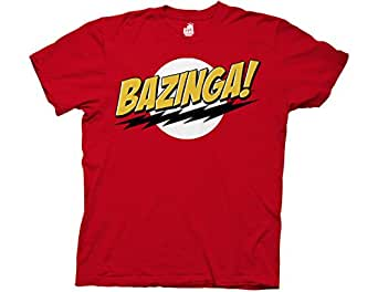 T-Shirt - Big Bang Theory - Bazinga! No Face - XXL- Red