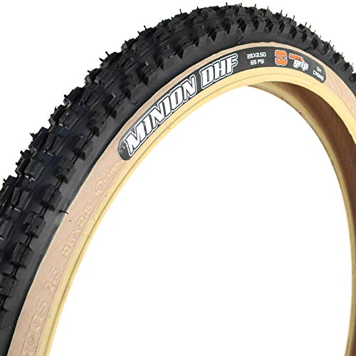 Maxxis Minion DHF Downhill Tire 26 x 2.5, Triple Compound, Skinwall, 2-Ply: Black ()