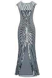1920s Sequin Mermaid Formal Long Flapper Gown