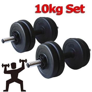 Generic 10 kg juego de mancuernas de entrenamiento levantamiento de peso para ejercicios de Fitness entrenamiento
