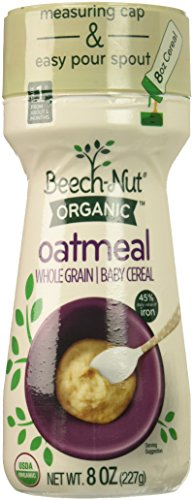 Beech-Nut Organic Oatmeal Baby Cereal Canister, 8 Ounce by Beech-Nut