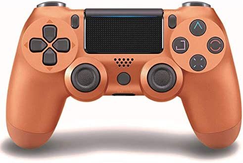 Game Controller for PS4 (Copper), Dual Vibration Compatible with Windows PC & Android OS, Wireless Bluetooth Controller