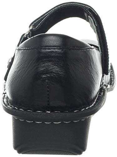 Pictures of Alegria Women's Belle Mary Jane Flat Black Crinkle 35 M EU 7