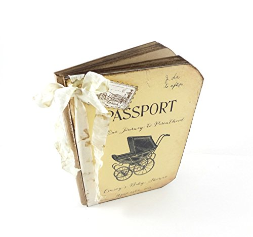 Custom Baby Shower Guest Book, Travel Themed, Passport, Advice for New Mom Book
