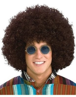 Forum Novelties Men's Jumbo Afro Hippie Costume Wig, Brown, One (Jumbo Afro Adult Wig)
