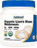 Nutricost Organic Lion's Mane Mushroom Powder 1LB - Certified USDA Organic
