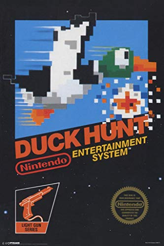 Pyramid America Laminated Duck Hunt Nintendo NES Light Gun Shooter Video Game Console Cover Box Art Print Sign Poster 12x18 inch